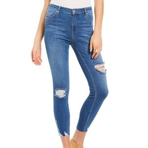 NWT Free People Shark Bite Distressed Skinny Jeans